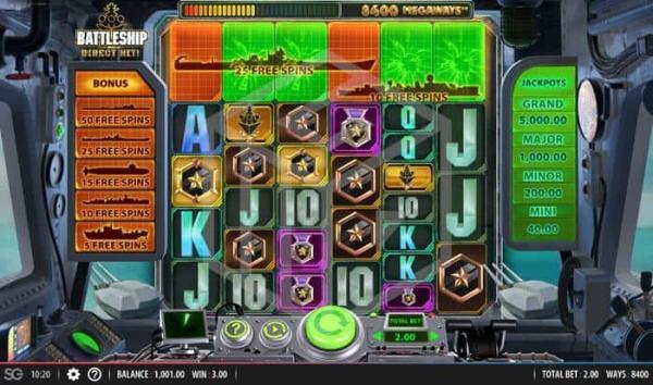 Gagner des free spins sur Battleship Direct Hit, la nouvelle machine à sous.