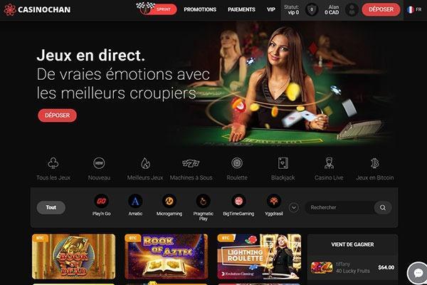 Notre avis sur le casino en ligne CasinoChan